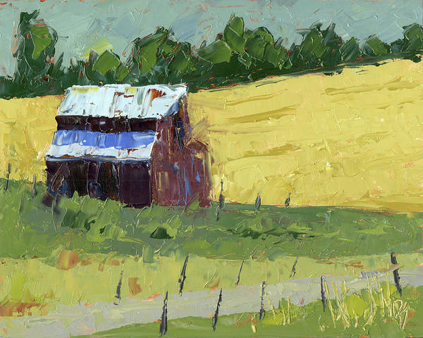 Painting - Barn On The Slope by David King