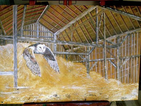 Wall Art - Painting - Barn Owl by Wm Garcia