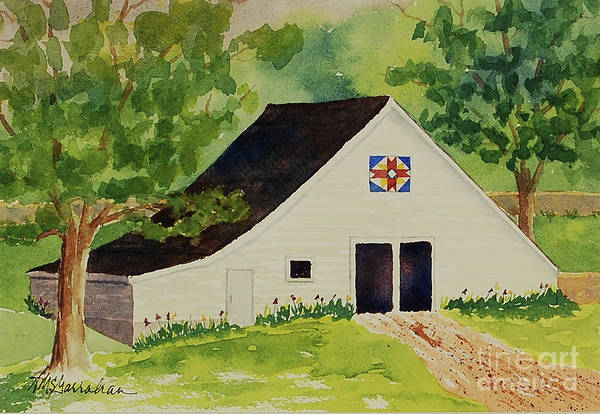Wall Art - Painting - Barn Quilt #1 by Annette McGarrahan