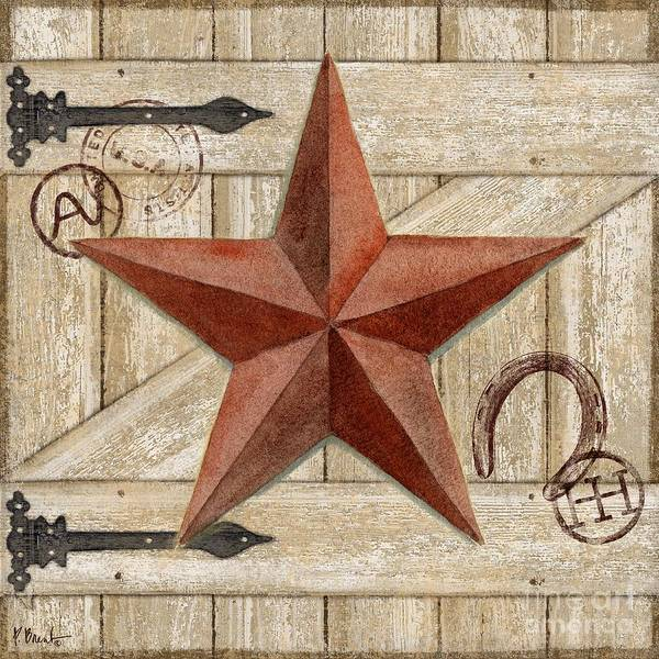 Wall Art - Painting - Barn Star I by Paul Brent
