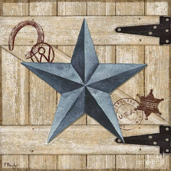 Wall Art - Painting - Barn Star II by Paul Brent