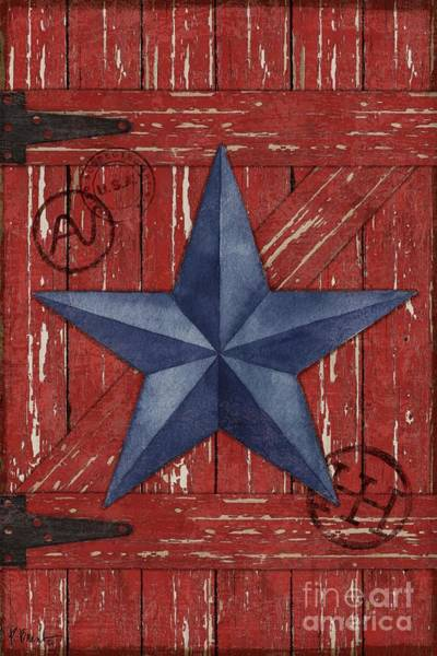 Wall Art - Painting - Barn Star - Vertical by Paul Brent