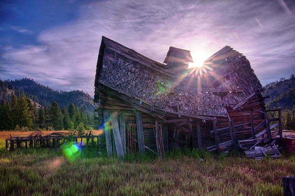 Photograph - Barn Sun Rise by David Disponett