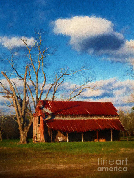 Photograph - Red Roof Barn 2 by Dave Bosse