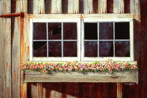 Painting - Barn Window Box by Frank Wilson