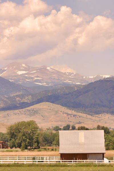 Photograph - Barn With A Rocky Mountain View  by James BO Insogna