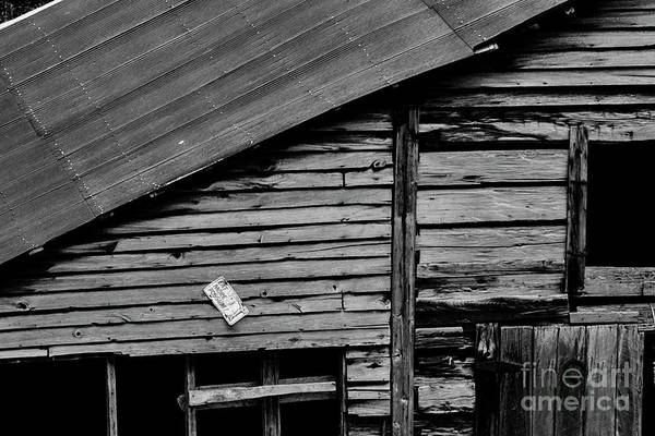 Photograph - Barn With License Plate by Thomas R Fletcher