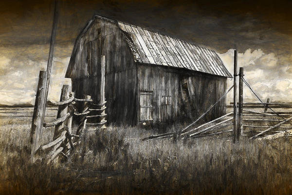 Photograph - Barn With Wood Fence by Randall Nyhof