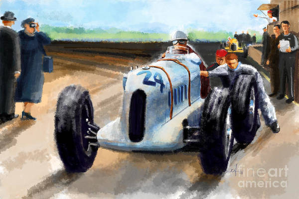 Riffle Digital Art - Barnato Hussian At Brooklands by Ron Riffle