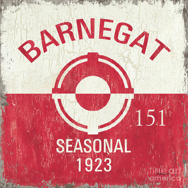 Signs Painting - Barnegat Beach Badge by Debbie DeWitt
