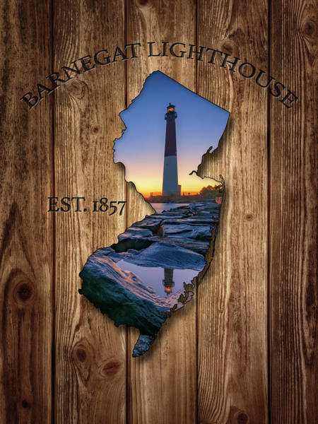 Photograph - Barnegat Light New Jersey Map by Rick Berk