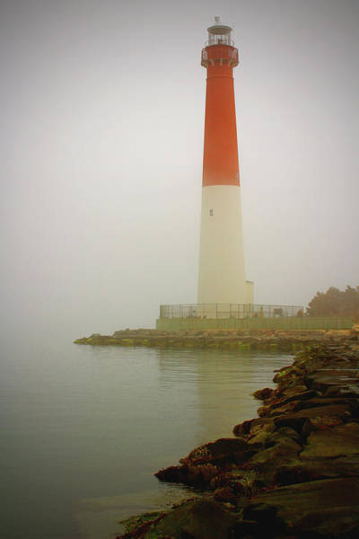 Wall Art - Photograph - Barnegat Lighthouse On A Foggy Day by Stamp City