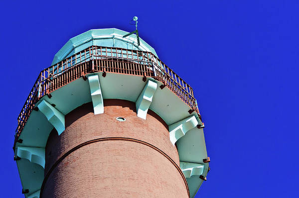 Photograph - Barnegat Lighthouse Top by Louis Dallara