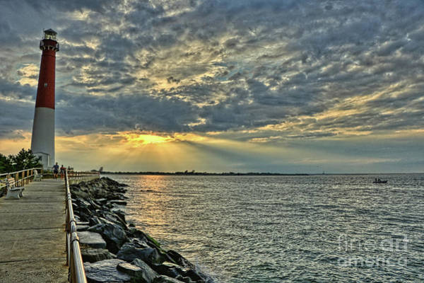 Photograph - Barneget Lighthouse  New Jersey by Jeff Breiman