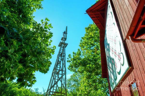 Bonneyville Mill Wall Art - Photograph - Barnquilt And Windmill by David Arment