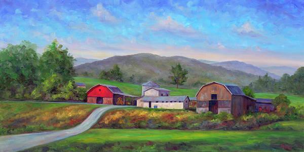 Wall Art - Painting - Barns In Etowah Nc by Jeff Pittman