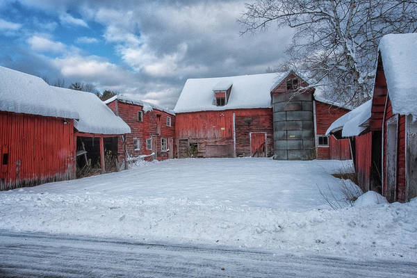 1741 Photograph - Barns In Winter II by Tom Singleton
