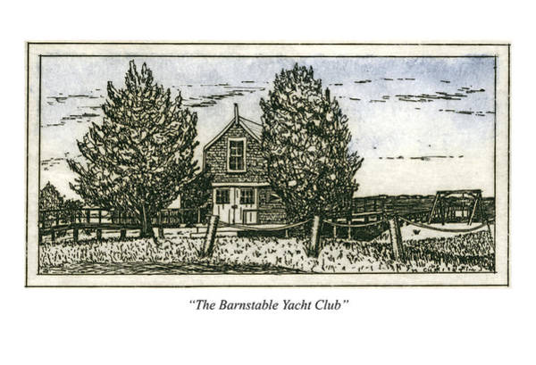 Wall Art - Mixed Media - Barnstable Yacht Club Greeting Card by Charles Harden