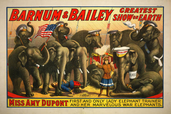 Dupont Wall Art - Photograph - Barnum And Bailey Greatest Show On Earth Circus Poster by Ricky Barnard