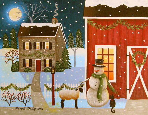 Barnyard Painting - Barnyard Friends by Mary Charles