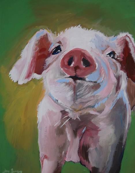Eyeballs Painting - Barnyard No. 1 by Anne Seay
