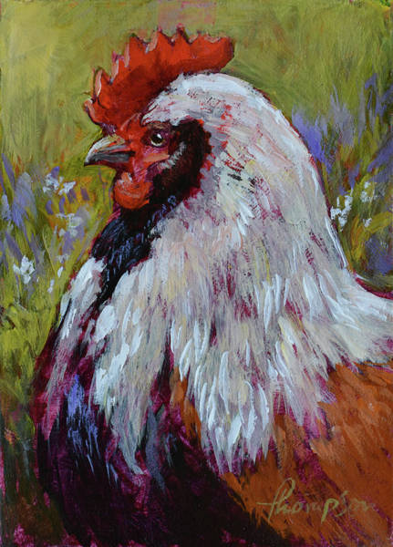 Wall Art - Painting - Baron Of The Barnyard #1 by Tracie Thompson
