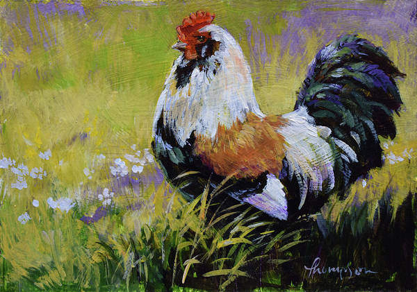 Wall Art - Painting - Baron Of The Barnyard #2 by Tracie Thompson