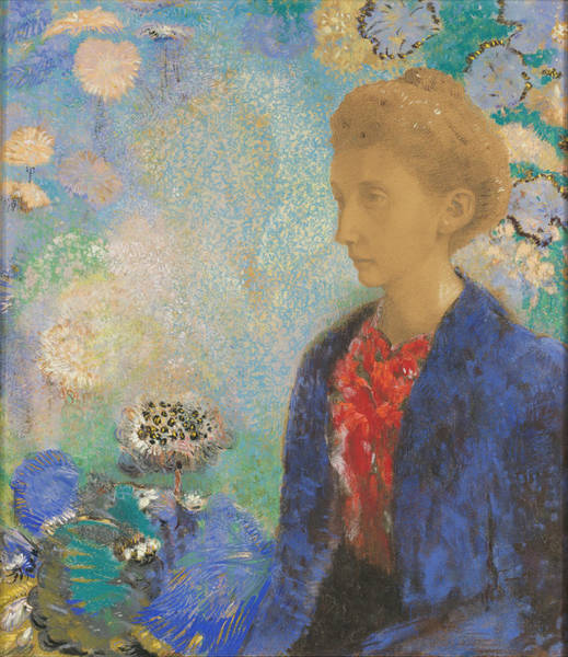 Painting - Baronne De Domecy by Odilon Redon