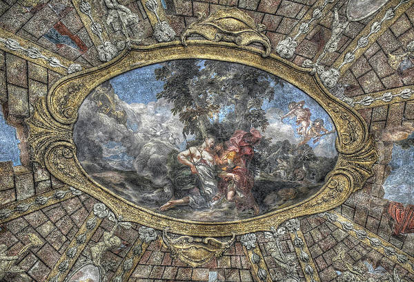 Photograph - Baroque Garden Atrium Ceiling by Michael Kirk