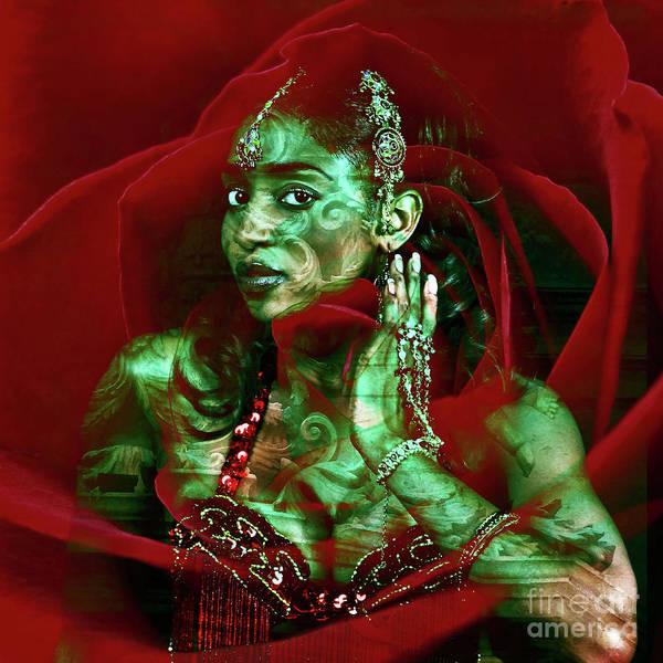 Digital Art - Baroque Meets Oriental Rose by Silva Wischeropp