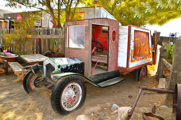 Vallery Photograph - Barqs Delivery Van Cuyama California by Floyd Snyder
