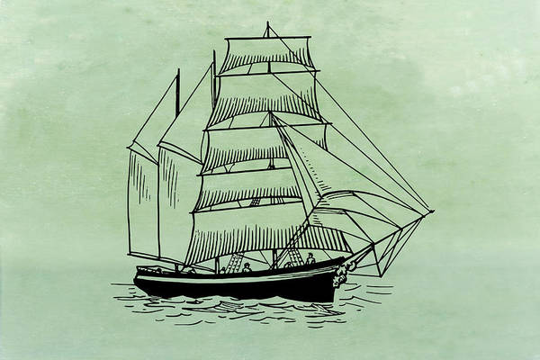 Mixed Media - Barquentine by Movie Poster Prints