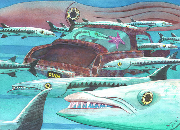 Painting - Barracuda by Catherine G McElroy