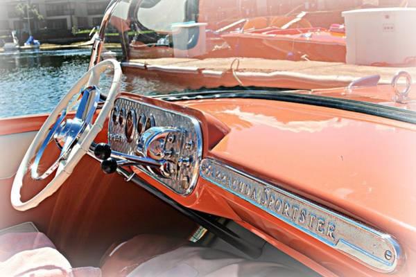 Photograph - Barracuda Sportster Dash by Steve Natale