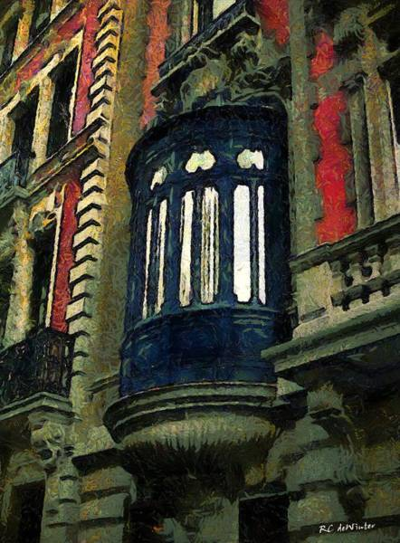Painting - Barred Bow Window by RC DeWinter