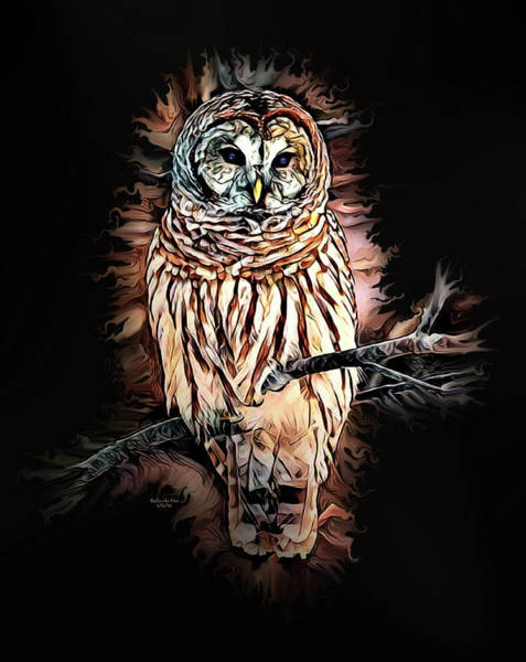 Digital Art - Barred Owl  by Artful Oasis