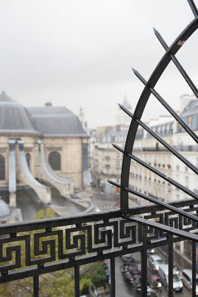Photograph - Barred Paris Balcony by Jean Gill