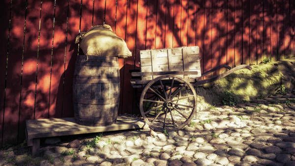 Photograph - Barrel And Cart by James Billings