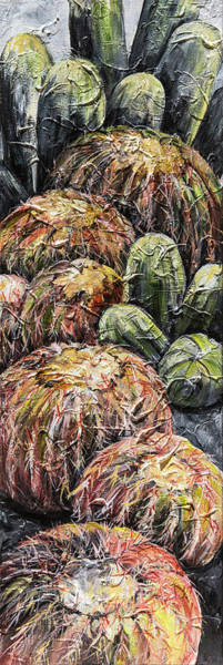 Painting - Barrel Cactus #1 by Sally Quillin