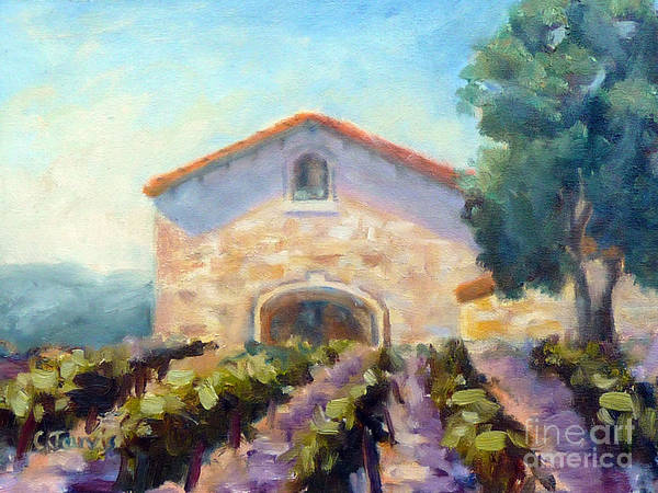 Painting - Barrel Room by Carolyn Jarvis