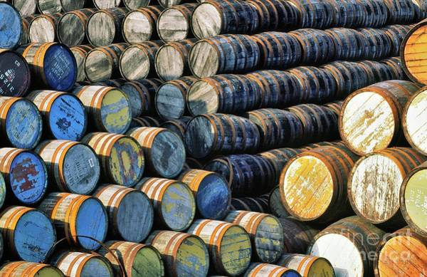 Wall Art - Photograph - Barrels In The Speyside Whisky Town Of Dufftown, Scotland by David Lyons
