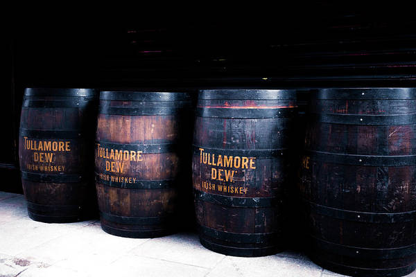 Irish Whiskey Photograph - Barrels Of Gold - Tulamore Dew by Georgia Fowler