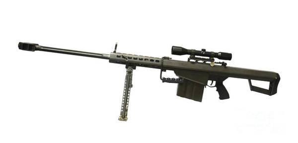 Sniper Photograph - Barrett L82a1 Anti-materiel Rifle by Andrew Chittock