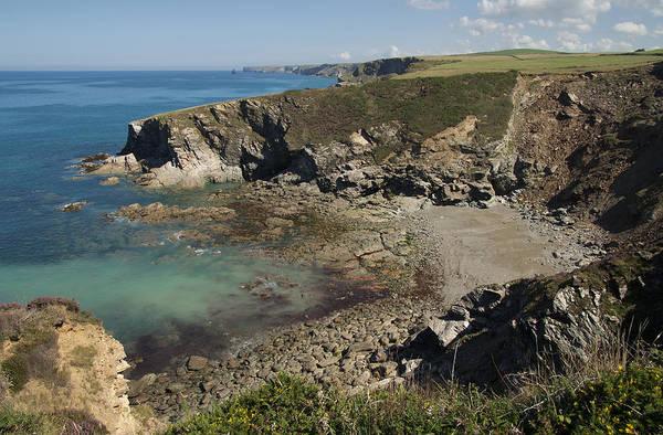 Photograph - Barretts Zawn In Cornwall by Pete Hemington