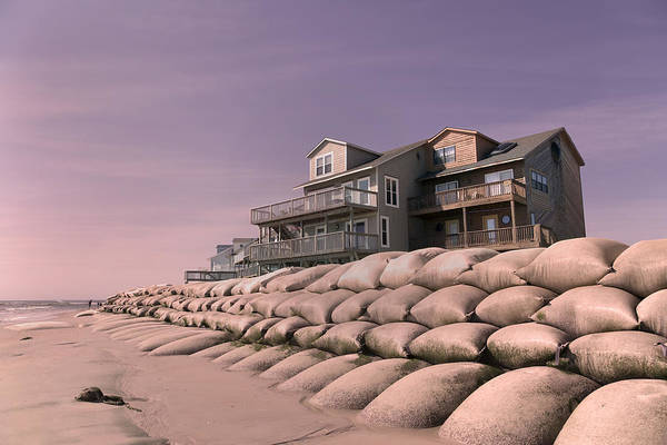 Condemned Wall Art - Photograph - Barrier Island Migration  by Betsy Knapp