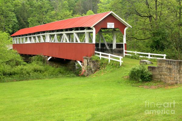 Laurel Hill Creek Photograph - Barronvale Covered Bridge by Adam Jewell