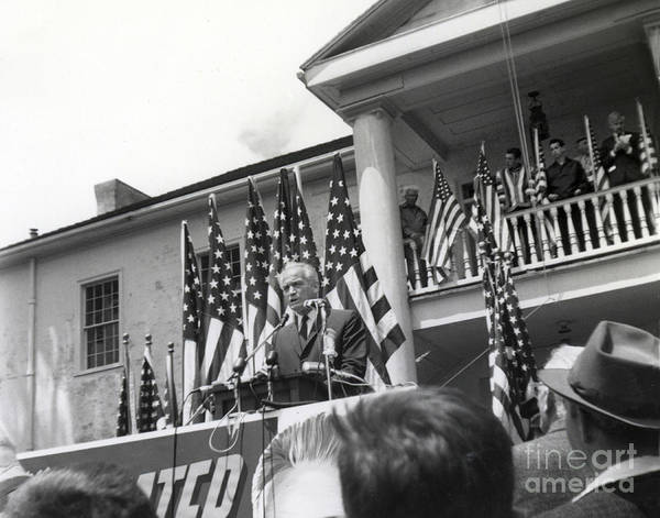 Photograph - Barry Goldwater Was At Colton Hall In Monterey On Tuesday May 26, 1964 by California Views Archives Mr Pat Hathaway Archives