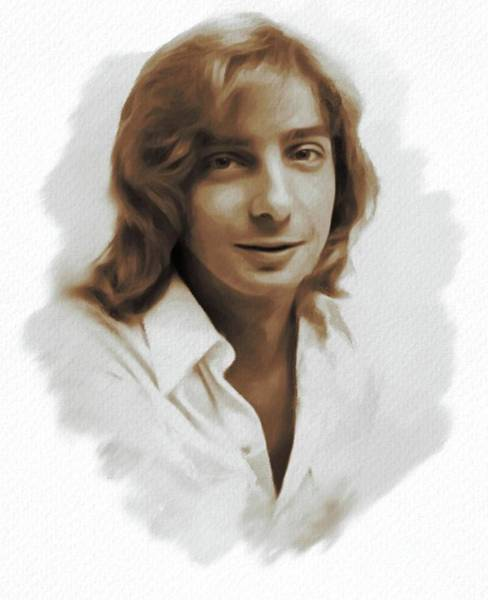 Stardom Painting - Barry Manilow, Singer by Mary Bassett