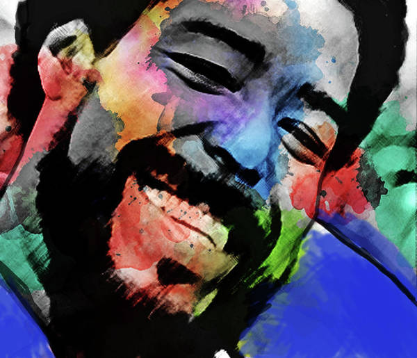 Jazz-funk Painting - Barry White  by Enki Art