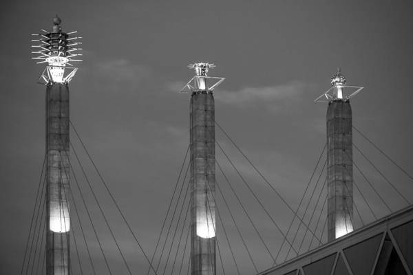 Fisher Center Photograph - Bartle Hall Pylons Art by Steven Bateson